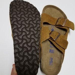 New Birkenstock Arizona Mink Suede Soft Footbed 39 NWT